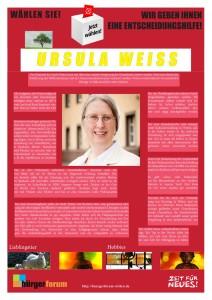 Buergerforum fragt Ursula Weiss